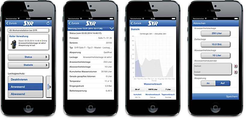 Leckageschutz-Überwachung am Smartphone